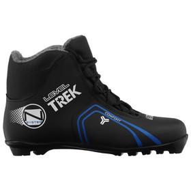 Ботинки лыжные TREK Level 3 NNN ИК, цвет чёрный, лого синий, размер 38