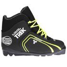 Ботинки лыжные TREK Level 1 SNS ИК, цвет чёрный, лого лайм неон, размер 39