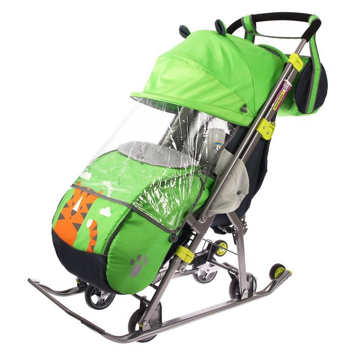 Санки-коляска «Ника детям 7. Тигр», цвет лимонный