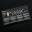 Набор кухонных ножей  Bаmbоо, 4 шт: лезвие 8,8 см, 12,5 см, 20 см, 20 см, на подставке - Фото 8