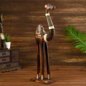 Сувенир дерево 'Тёмный верблюд' 25х10х60 см Ош