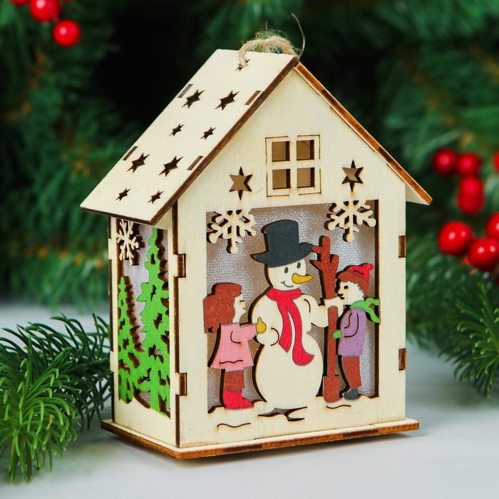Декор с подсветкой «Новогодний гость»