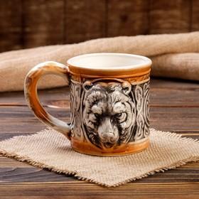 """Кружка """"Медведь"""", задувка, керамика, 0.5 л"""