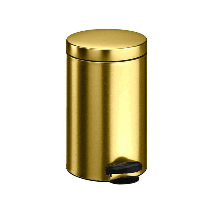Ведро для мусора Meliconi, 5 л, цвет металлик золото