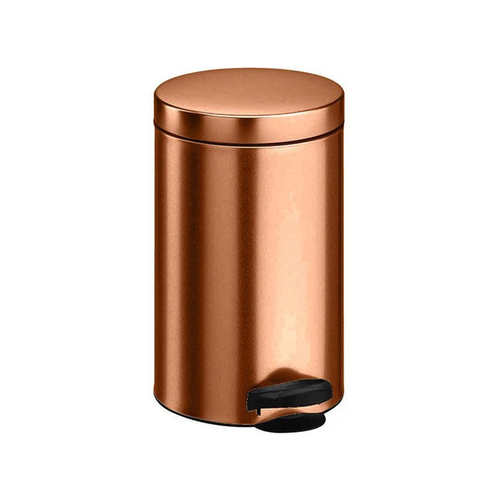 Ведро для мусора Meliconi, 5 л, цвет металлик медь