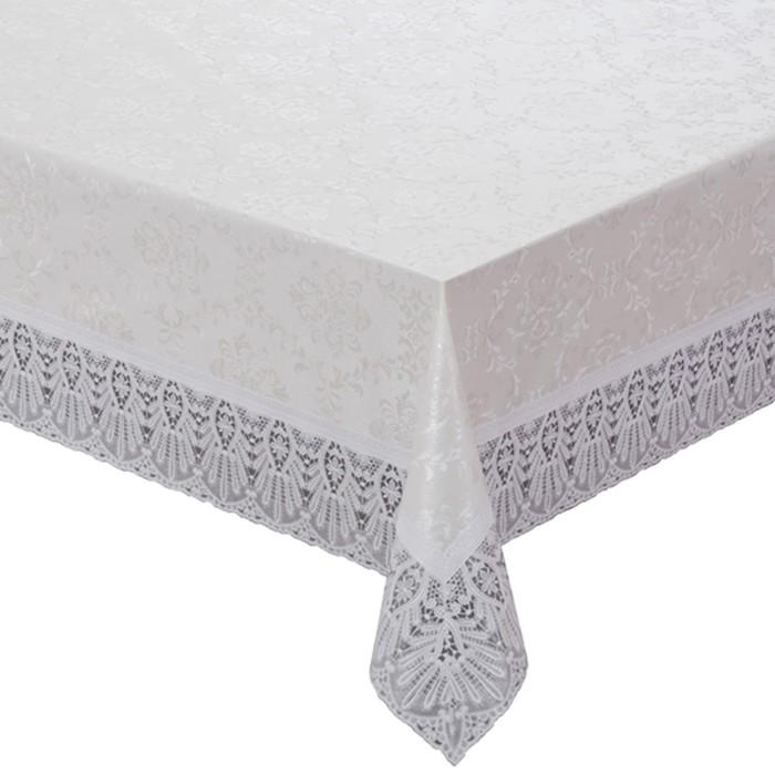 Готовая скатерть Meiwa, прямоугольная, 152 х 228 см, цвет белый