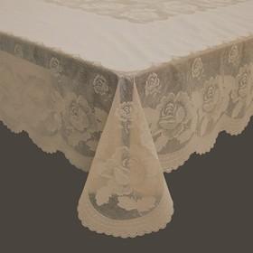 Готовая скатерть «Ажурная» Queen Rose, 152 х 228 см, цвет сепия