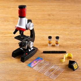 Микроскоп 'Юный исследователь', кратность увеличения 1200х, 400х, 100х, с подсветкой Ош