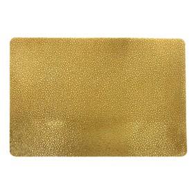Салфетка «Капли», цвет золото, 30 х 40 см