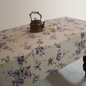 Скатерть ALBA Вальс цветов фиолетовая 140х200 см