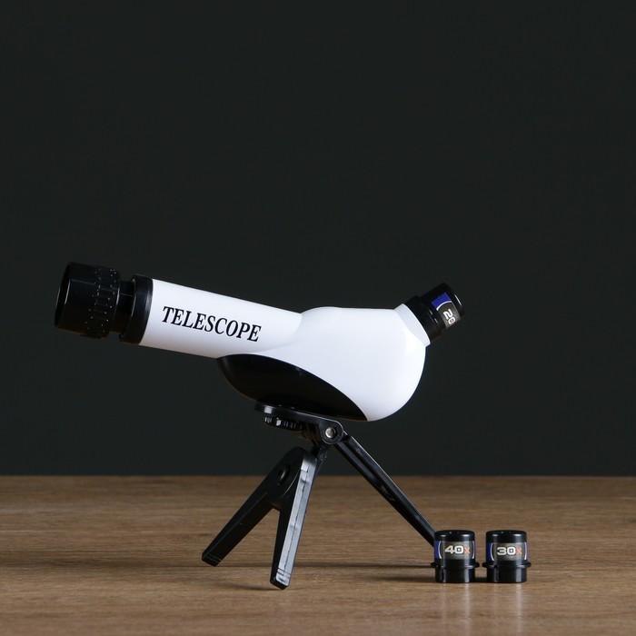 Телескоп настольный Оптика, сменные линзы 20х 30х 40х