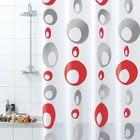 Штора для ванной комнаты, 180х200 см, ПВХ, Bolle, серая