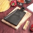 Сковорода «Тяпка», 19,5х15,5 см, на деревянной подставке - Фото 1