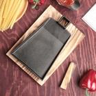 Сковорода «Тяпка», 19,5х15,5 см, на деревянной подставке - Фото 2