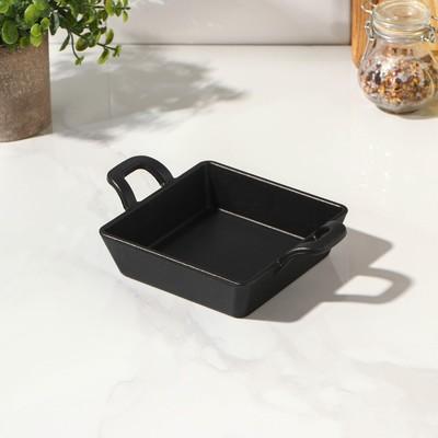 Сковорода «Квадрат. Глубокий», 12,5×12,5×3 см, с чугунной ручкой