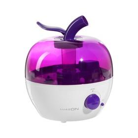Увлажнитель воздуха LuazON LHU-02, ультразвуковой, 2.4 л, 25 Вт, бело-фиолетовый