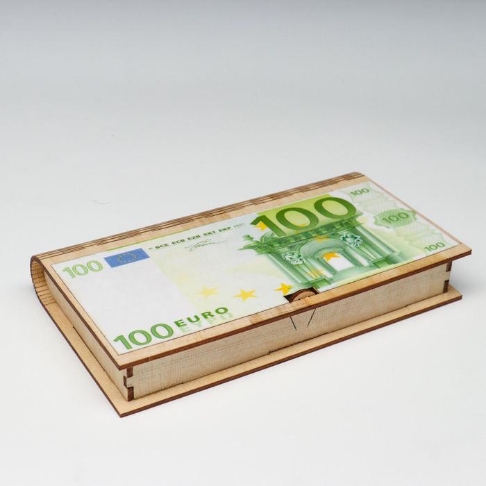 "Купюрница ""100 Евро"", 17х9,5х2 см"