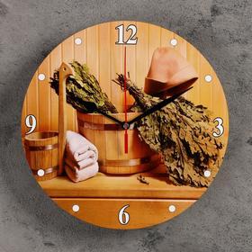 Часы настенные, серия: Интерьер, для бани 'Вкусная баня' Ош
