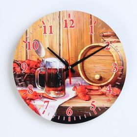 Часы настенные, серия: Интерьер, для бани 'Банный набор' Ош