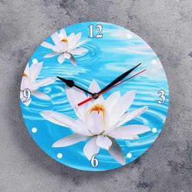 Часы настенные, серия: Цветы, 'Кувшинка', 24 см Ош