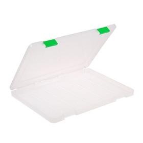 Папка для документов А4, с цветными защелками, 230 х 305 х 23 мм. прозрачный Ош