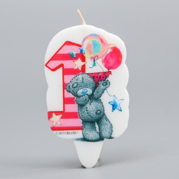 Свеча в торт, цифра 1 Me To You, 5 х 8,5 см