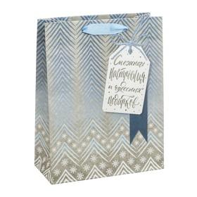 Пакет крафтовый вертикальный «Чудесные подарки», 12 × 15 × 5,5 см Ош