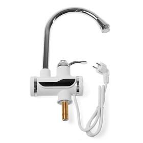 Кран-водонагреватель UNIPUMP BEF-012-02, проточный, 3000 Вт, max нагрев до 60 С, белый Ош