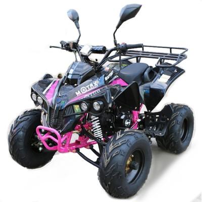 Квадроцикл бензиновый MOTAX ATV Raptor Super LUX 125 сс, Черно-розовый