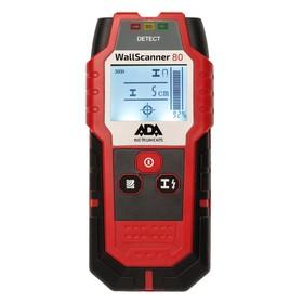 Детектор проводки ADA Wall Scanner 80 А00466, металл/проводка/дерево 80/50/20 мм Ош