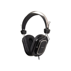 Наушники с микрофоном A4Tech HS-200 1.8м мониторы оголовье черный