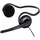 Наушники с микрофоном Hama Black Stripe 2м накладные шейный обод (00053979) черный