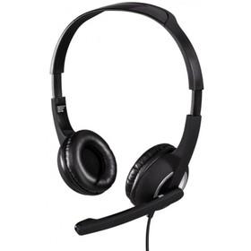 Наушники с микрофоном Hama Essential HS 300, 2м, мониторы, оголовье, цвет черный-серебрист
