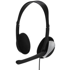 Наушники с микрофоном Hama Essential HS 200 2м накладные оголовье (00139900) черный