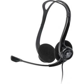 Наушники с микрофоном Logitech 960 2.4м накладные оголовье (981-000100) черный