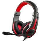 Наушники с микрофоном Oklick HS-L200 2м мониторы оголовье (Y-819) черный/красный