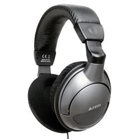 Наушники с микрофоном A4 HS-800 1.8м мониторы оголовье серебристый