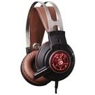 Наушники с микрофоном A4 Bloody G430 2.2м мониторы оголовье черный/коричневый