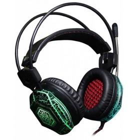 Наушники с микрофоном Oklick HS-L500G TOXIC 2.2м мониторы оголовье (HS-L500G) черный