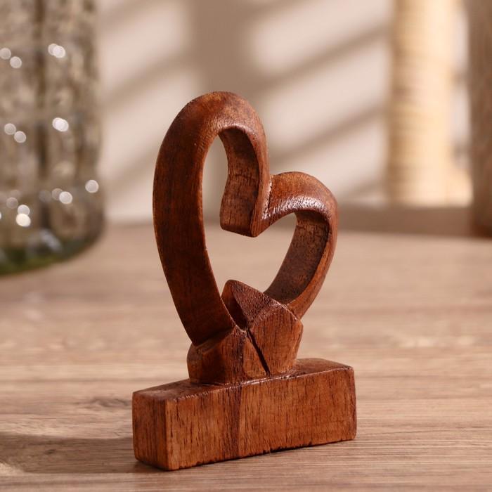 Сувенир дерево Сердце любви 10х8х2,5 см