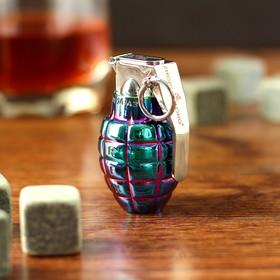 Зажигалка электронная 'Граната', USB, спираль, градиент, синяя, 3х4х6 см Ош