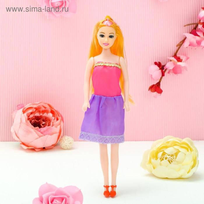 Кукла на подложке с аксессуарами «Самой стильной», МИКС