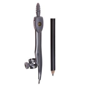 Циркуль металлический с карандашом 125 мм, в пластиковом пенале (козья ножка), МИКС Ош
