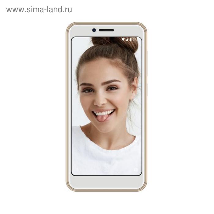 "Смартфон INOI 3 Lite, 5"", 960x480, 8Gb, 1Gb RAM, 8+5+0,3Mp, 2250мАч, цвет золотой"