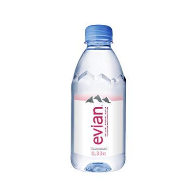 Вода питьевая негазированная Evian, 0,33 л