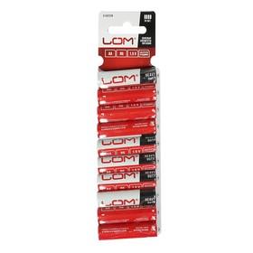 Батарейка солевая LOM, AA, R6, блистер, 10 шт