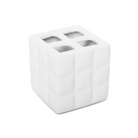 Стакан для зубных щёток Quadratto, с разделителем