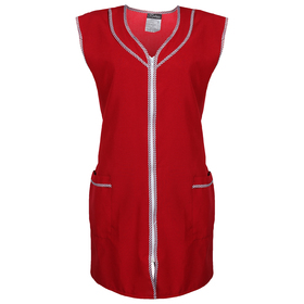 Халат габардин на молнии, без рукава, размер 52-54, рост 170-176, цвет бордовый Ош