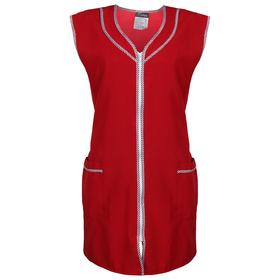 Халат габардин на молнии, без рукава, размер 56-58, рост 170-176, цвет бордовый Ош