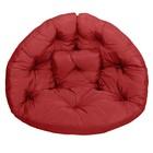 Кресло-футон, размер 200х100х10 см, бордовый